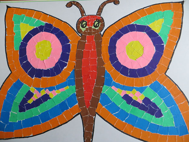 Аппликация Волшебная бабочка (Карбасникова Ксения) заявка № 5_