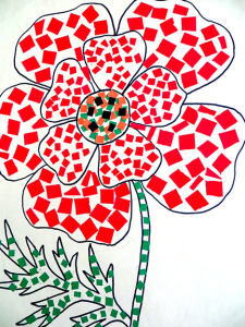 Аппликация Цветок доброты (Текунева Татьяна) заявка № 2_